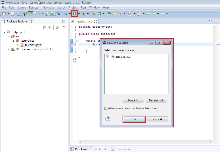 How to Run a simple Java program in Eclipse