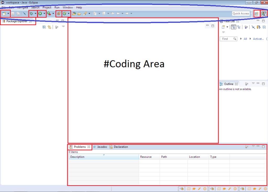 Eclipse IDE Workbench menu bar